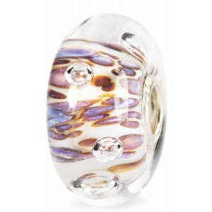 tglbe-10170 Trollbeads Purple Rippling Bubbles (Retired)