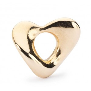 TAUBE-00105 Trollbeads Soft heart small Gold