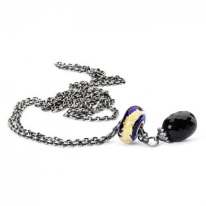TAGBO-00152 Trollbeads Onyx and Blue Chakra Necklace 80 cm