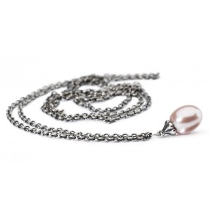 TAGFA-00049/55 Trollbeads Fantasy Necklace with Rosa Pearl