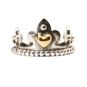 TAGRI-00201-00210 Trollbeads Ring Crown with gold