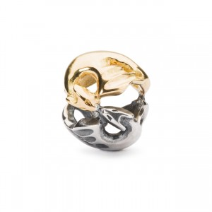 TAGBE-00232 Trollbeads Dancing Dragons (silver and 18 kt gold)