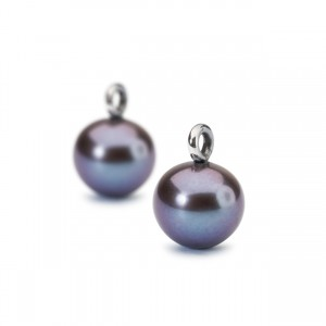 tagea-00096 Trollbeads earcharm Peacock Pearl Round Drops