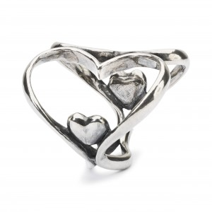 TAGPE-00071 Trollbeads Heart to Heart Pendant