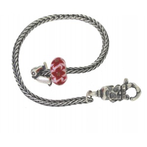 TSA18R-8 Trollbeads Art to Go Unique Red / Pink bracelet