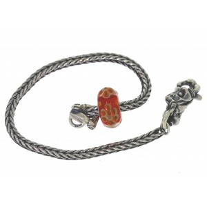 TSA18R-10 Trollbeads Art to Go Unique Red / Pink bracelet