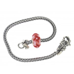 TSA18R-13 Trollbeads Art to Go Unique Red / Pink bracelet