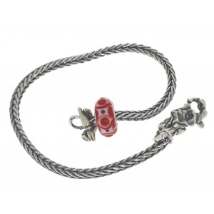 TSA18R-16 Trollbeads Art to Go Unique Red / Pink bracelet