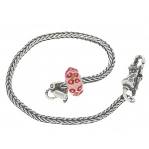 TSA18R-18 Trollbeads Art to Go Unique Red / Pink bracelet