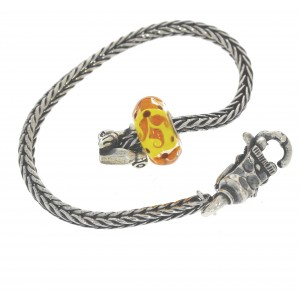 TSA18Y-4 Trollbeads Art to Go Unique Yellow/Brown bracelet