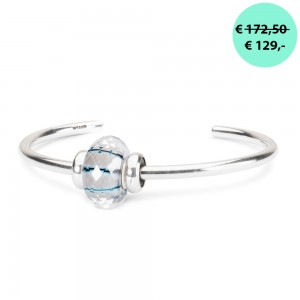 TROLLBEADS TSP2020C Moonbeam Facet bangle