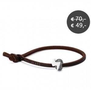 TB-LB05 Trollbeads Superhero bracelet - leather brown