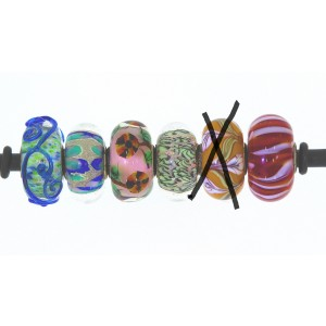 TU55 Trollbeads unique bead (1 piece)