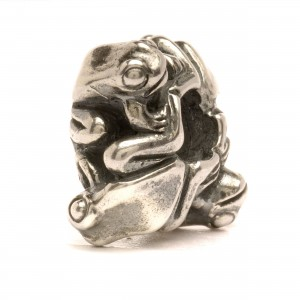 tagbe-40056 Trollbeads Four Frogs, Big (Retired)