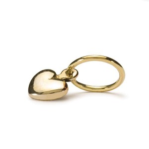 taube-00043 Trollbeads Mini heart gold