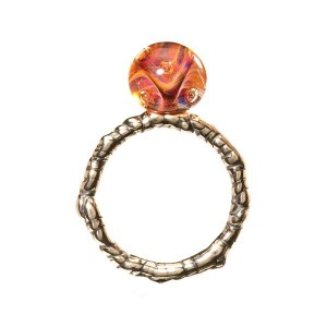 TAGRI-00241-00250 Trollbeads Ring The Eye Of Aphrodite (Retired)